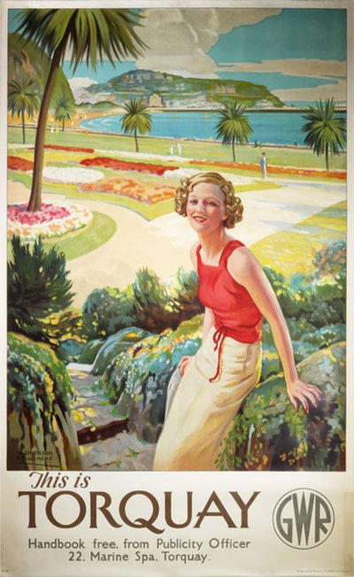 This is Torquay - GWR original poster designed by W. Smithson Broadhead (1888-1960)