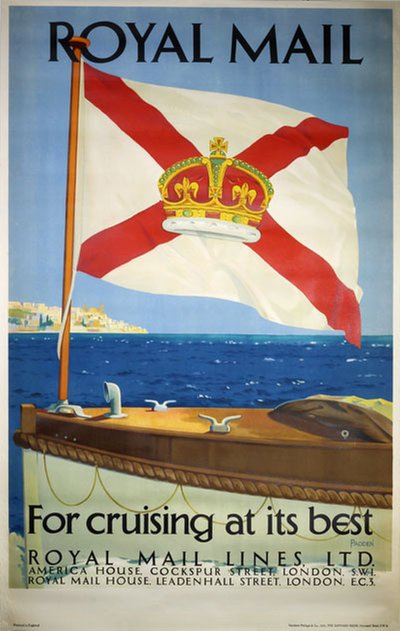 Royal Mail - for cruising at its best poster designed by Padden, Percy (1885-1965)