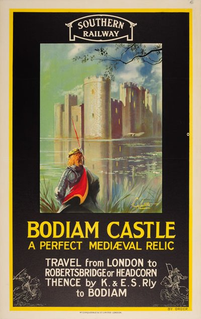 Bodiam Castle - Southern Railway poster