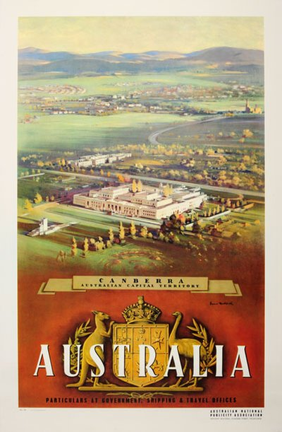 Australia - Canberra - Australian Capital Territory poster designed by Northfield, James (1887-1973)