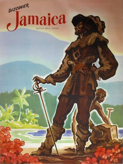 Discover Jamaica - British West Indies poster designed by Pike, John (1911-1979)