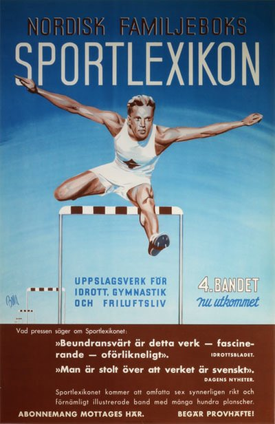Nordisk Familjeboks Sportlexicon original poster designed by Vilson, Bo (BOVIL)
