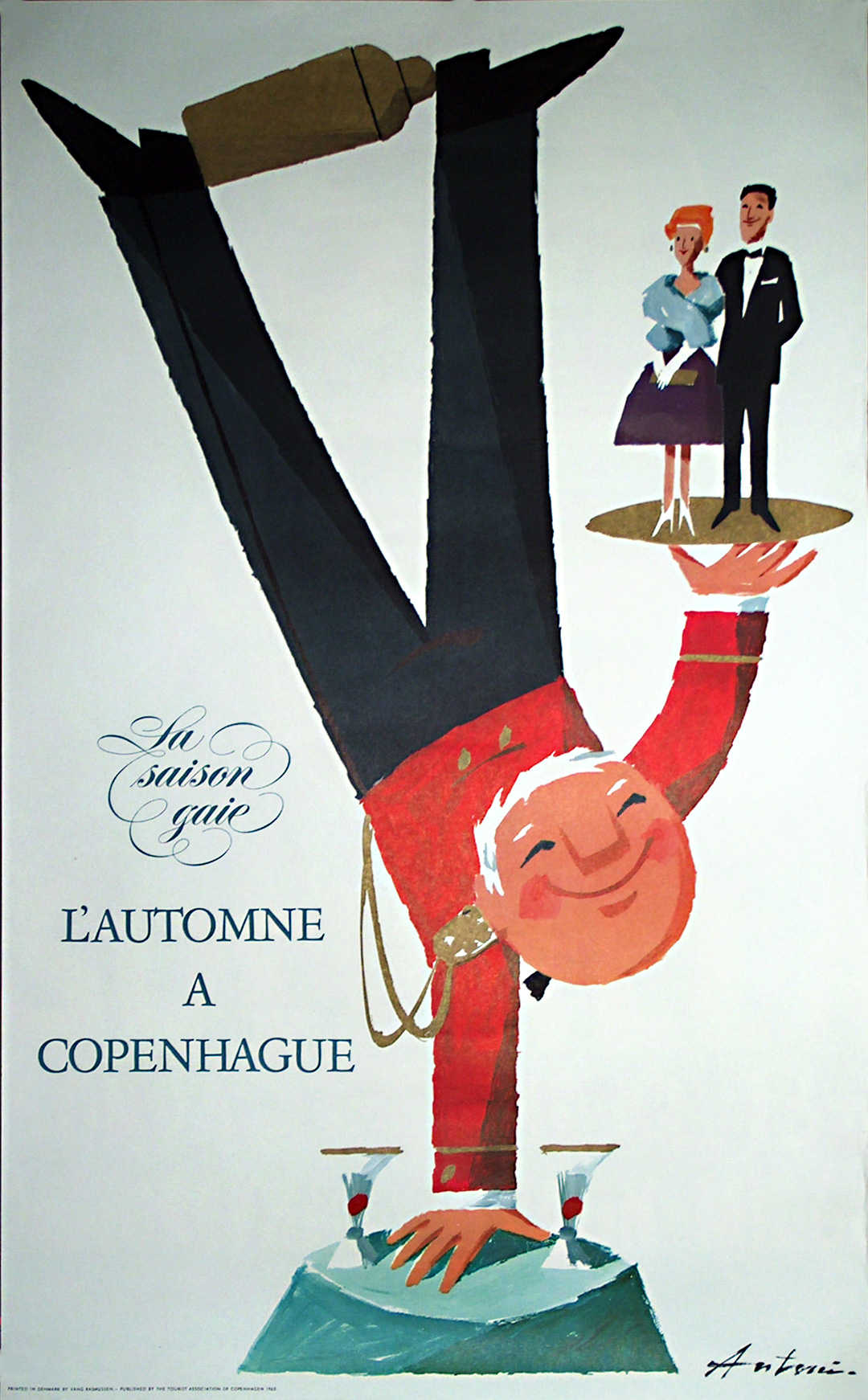 original vintage poster  denmark