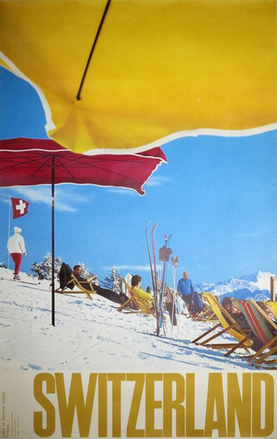 Switzerland Villars Ski Poster 1961  original poster designed by Photo: Giegel Philipp