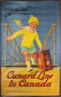 Cunard-Line-to-Canada-original-vintage-travel-poster