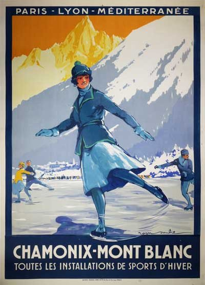 Chamonix Mont Blanc poster designed by Soubie, Roger (1898-1984)