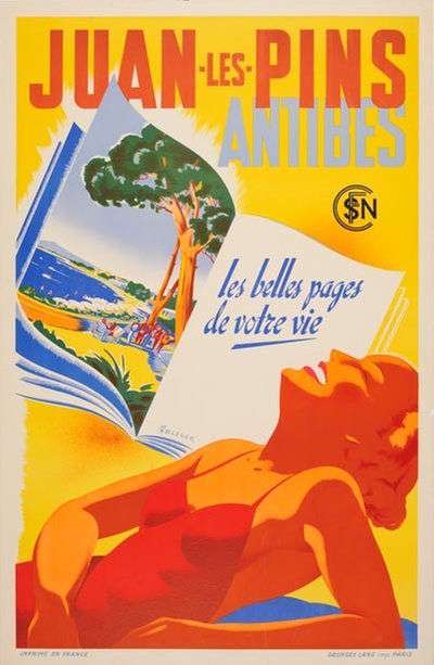 Juan les Pins - Antibes - France poster designed by Bleuer, René