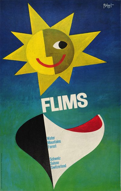 Flims original poster designed by Piatti, Celestino (1922-2007)