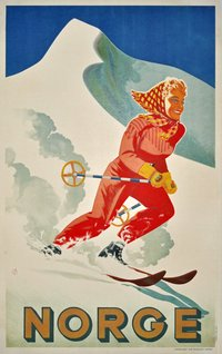 Norge - Norway ski poster