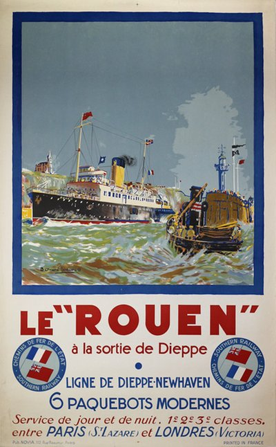 "Le ""Rouen"" - London - Paris original poster designed by Lachèvre, Bernard Raoul (1885-1950)"