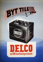 GM Delco battery 1946 poster