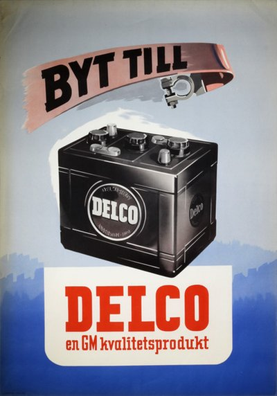 GM Delco Auto Battery 1946 original poster
