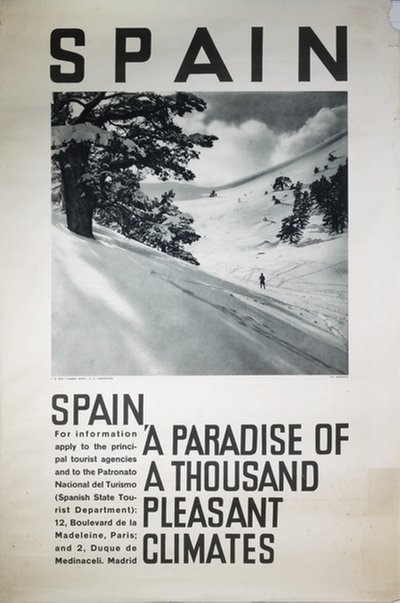 Spain - Winter original poster designed by Photo: Andrada