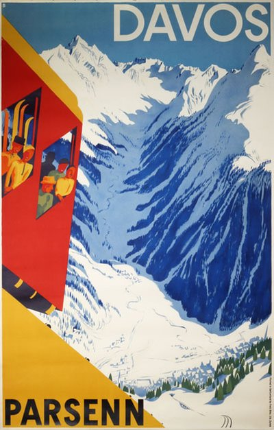 Davos Parsenn poster designed by Baumberger, Otto (1889-1960)