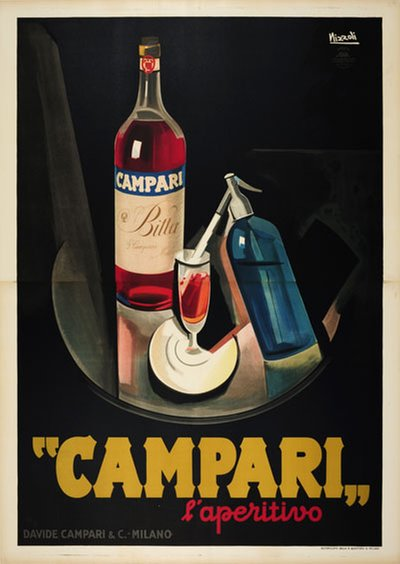 Campari L'Aperitivo original poster designed by Nizzoli, Marcello (1887-1969)