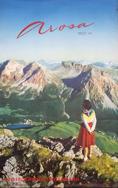 Arosa - Suisse Schweiz Switzerland poster designed by Photo: Michael Wolgensinger