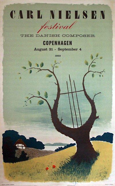 Original vintage poster: Carl Nielsen Festival Copenhagen
