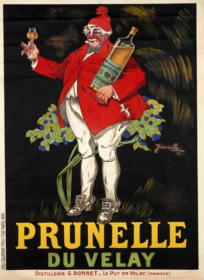 Prunelle du Velay original poster designed by Jarville