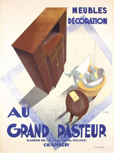 Au Grand Pasteur original poster designed by Villot, Charles