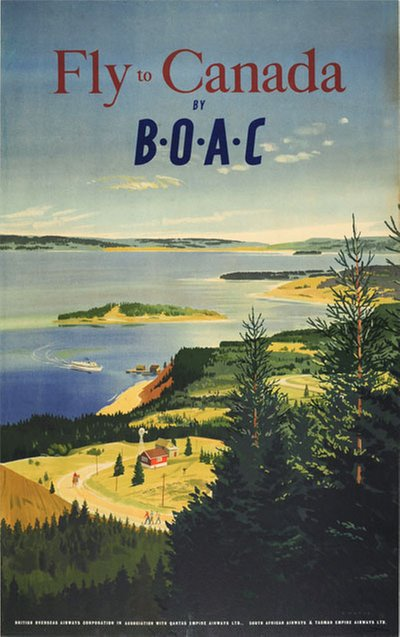 Fly to Canda, by BOAC original poster designed by Chater, Paul (1879-1949)