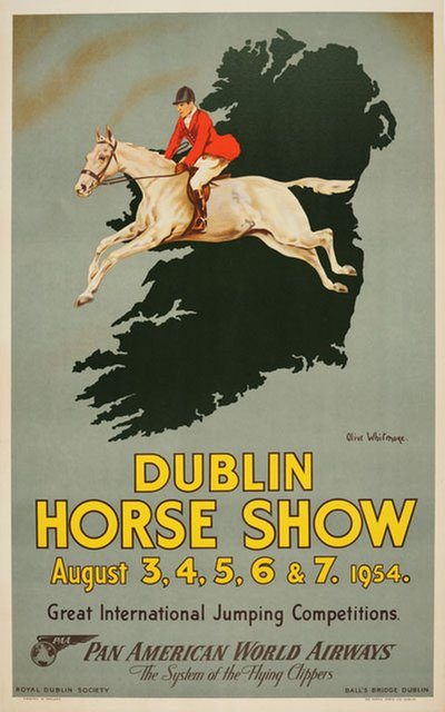 Dublin Horse Show poster designed by Olive Whitmore