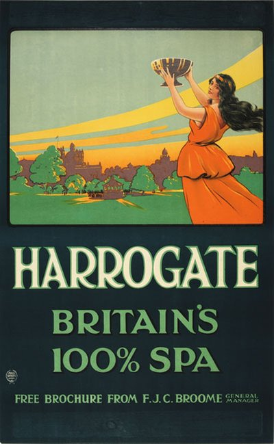 Harrogate - Britain's 100% Spa original poster