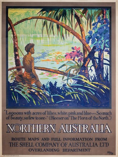 Northern Australia poster designed by W.H.A. Constable