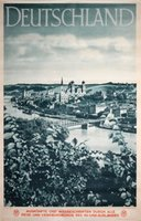 Germany-Deutschland-Nordbayern-Passau-travel-poster-plakat