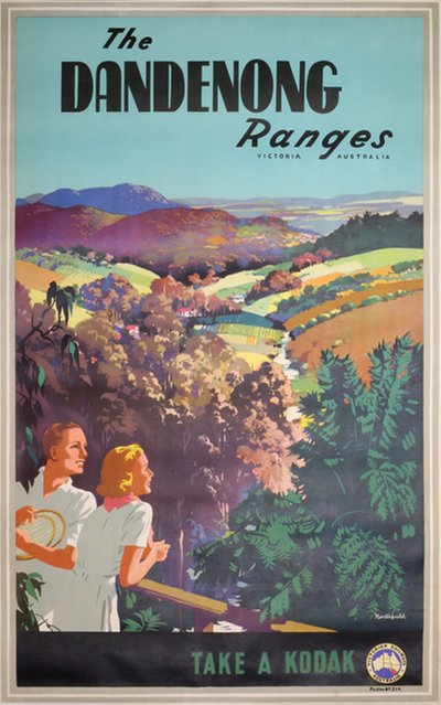 The Dandenong Ranges / Take a Kodak original poster designed by Northfield, James (1887-1973)