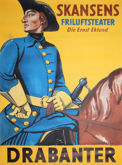 Drabanter Skansen Friluftsteater Stockholm original poster designed by Schonberg, Torsten (1882-1970)