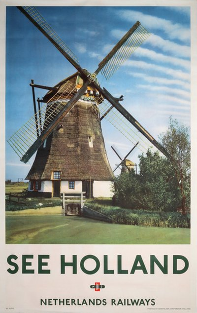 See Holland Netherlands Railway original poster