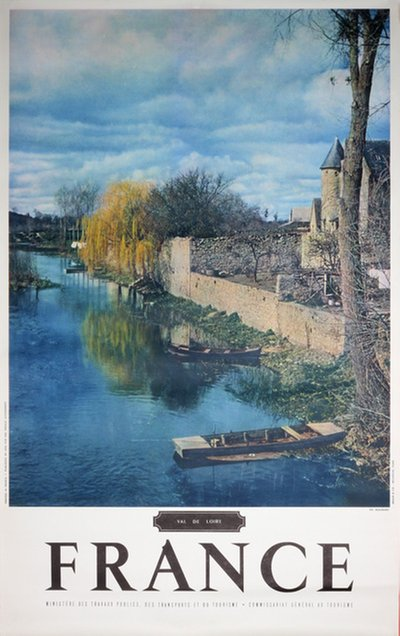 France Loire valley Val de Loire original poster designed by Photo: Ph. Molinard