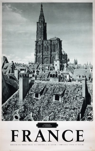 France Strasbourg la Cathédrale original poster designed by Photo: Sato