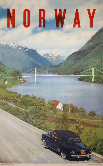 Norway - Studebaker Champion Convertible original poster designed by Photo by Algard