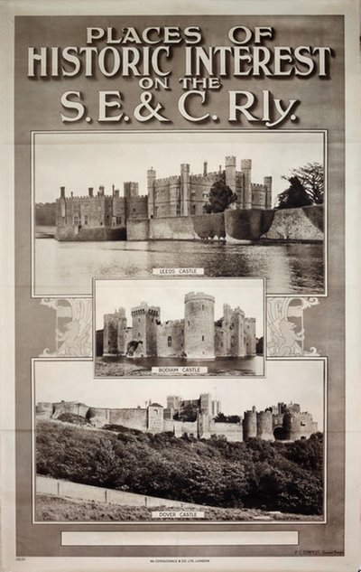 Places of Historic Interest on the S.E. & C.Rly. original poster