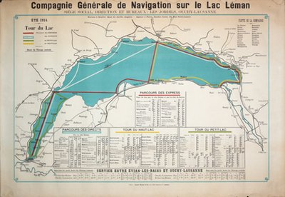 Tour du Lac 1914 original poster