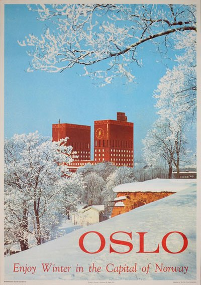 Oslo - Enjoy winter original poster