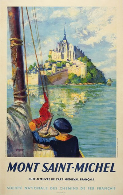 France - Mont Saint-Michel original poster designed by Starr