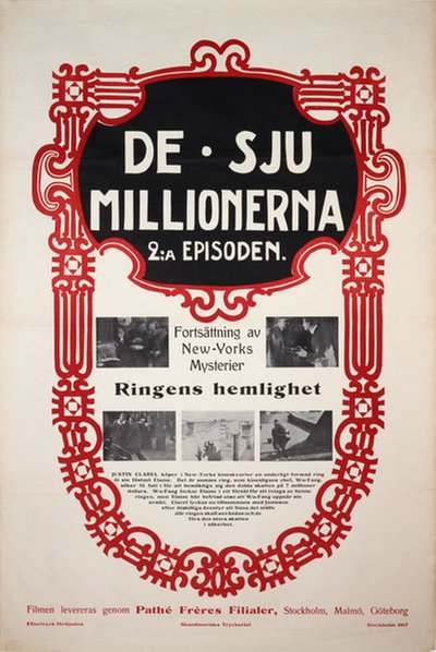 De sju millionerna - The New Exploits of Elaine original poster