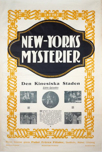 New Yorks Mysterier 6. episoden: Den Kinesiska Staden - (The Exploits of Elaine) original poster