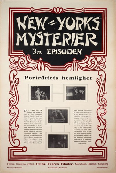 New Yorks Mysterier 3. episoden: Porträttets hemlighet - (The Exploits of Elaine) original poster