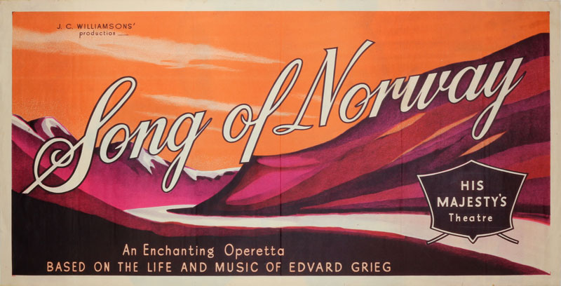 Song of Norway Operetta 1950 original poster