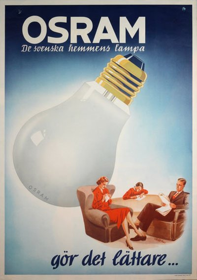 Osram original poster designed by Haren