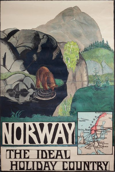 Norway the Ideal Holiday Country original poster designed by Krohg, Per (1889-1965)