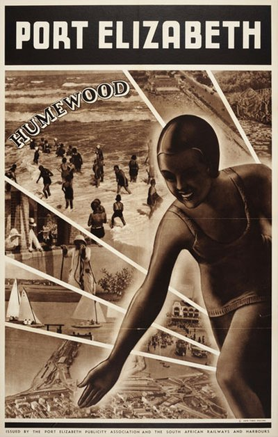 Port Elizabeth Humewood Beach South Africa original poster