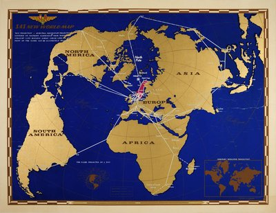 SAS New World Map original poster