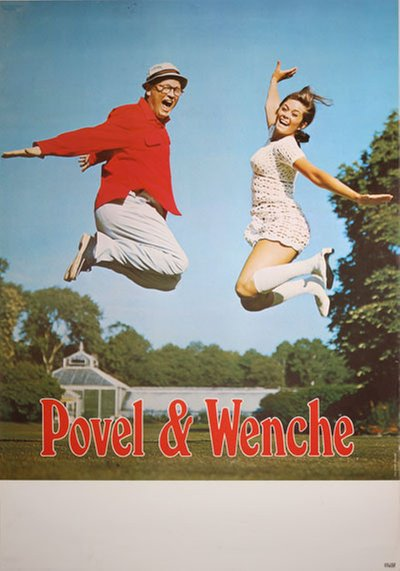 Povel och Wenche original poster designed by Photo: Siwer Ohlsson