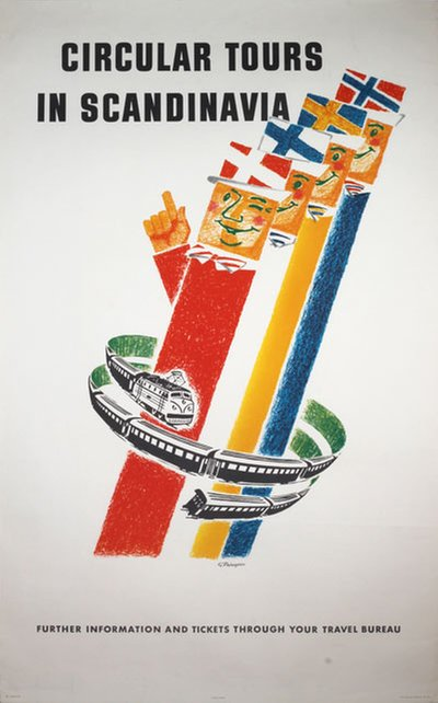 Circular Tours in Scandinavia original poster designed by G. Palmgren