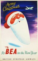 BEA-British-European-Airways-Christmas-poster-original