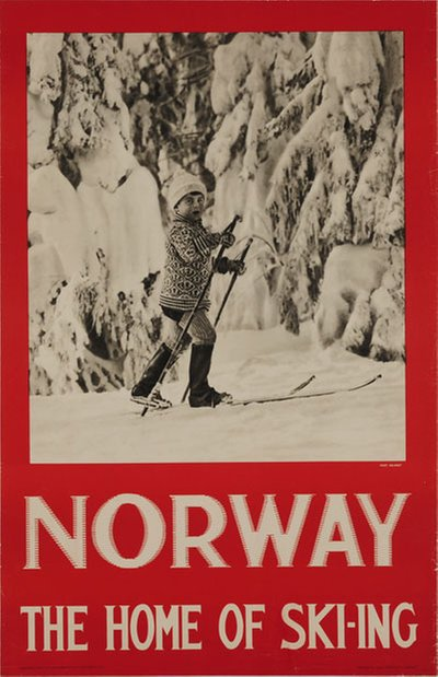 Norway - The home of skiing original poster designed by Photo: Hermann Christian Neupert (1875-1941)